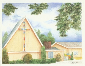 Irondale Church watercolor 2014